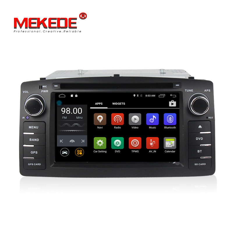 Android 7.1 Quad core 2Din Car DVD radio stereo For Corolla E120 BYD F3 with 2G RAM WIFI 4G sim card LTE GPS Car radio