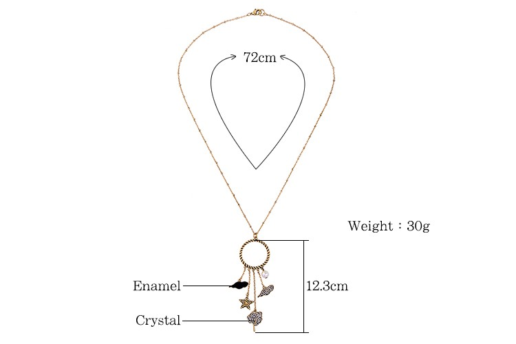 Cute Star Cloud Leaf Women Gold Plated Necklace Best Choice for Young Girl