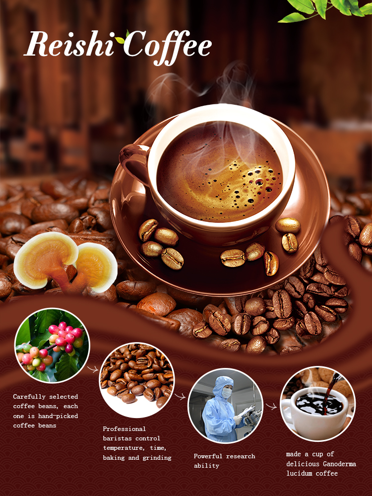 Private Label Instant Herbal Mushroom Latte Coffee Ganoderma Wholesale