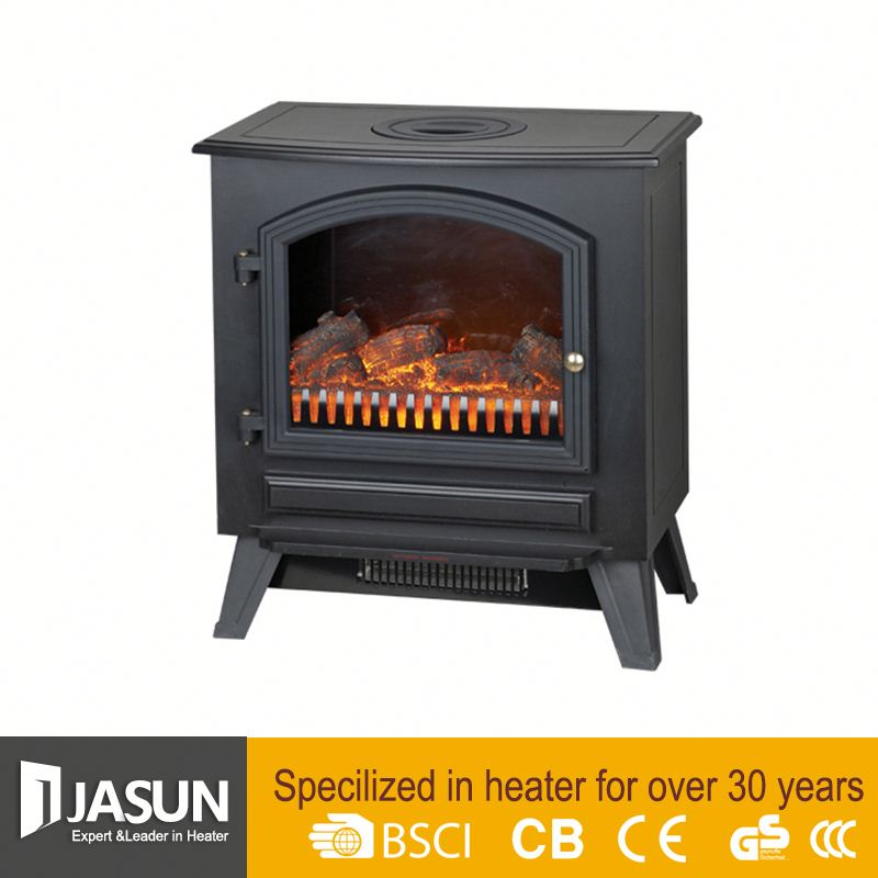 Cixi Jasun indoor cheap Oil Filled Infrared Quartz Ceramic small electric fireplace heater