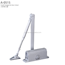 A051S Aluminum 2 Speed Adjustment Small Hexagonal Door Closer