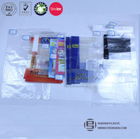 Resealable bopp transparent plastic packaging bags