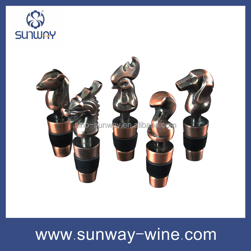 decorations wine stopper, Chinese zodiac wine bottle stopper
