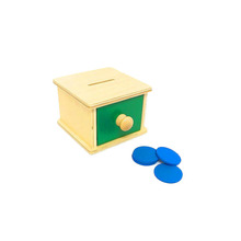 2017 new toys for kid baby brain development toys wooden coin box