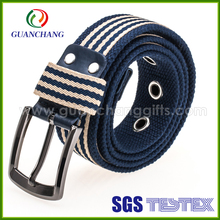 Factory derectly sale high quality colorful western cotton elastic fashion braided durable webbing stretch belts for men