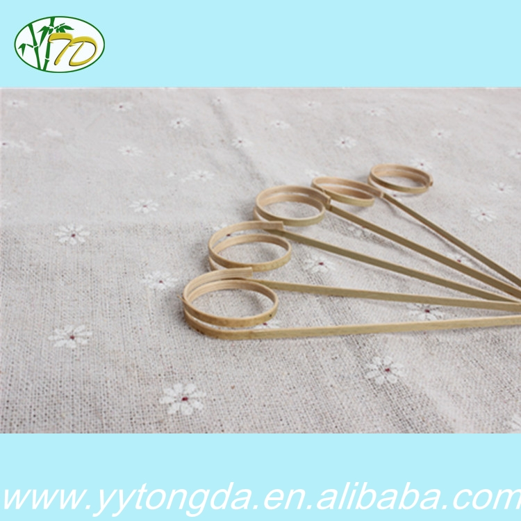 Welcome wholesales hot sale bamboo fruit knotted sticks on sale