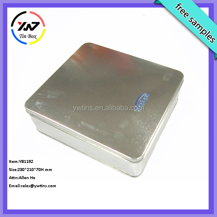 Food safe empty large square metal insulated aluminum tin box wholesale
