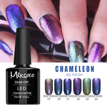 professional soak off chameleon pigment glitter color changing uv/led organic gel nail polish