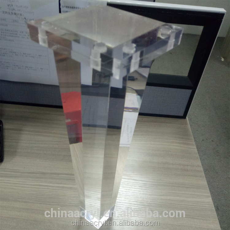 High Class Furniture Parts Custom Desgin Acrylic Furniture Legs