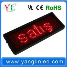 Various colors Programmable scrolling text p5 indoor led display Message Board