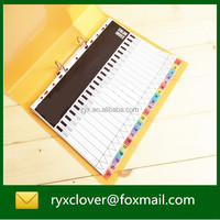 Index divider/paper file divier with colorful index tab