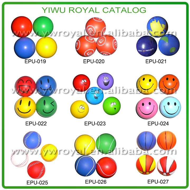 Promotional Soft Reliever PU Foam Custom Anti Stress Ball