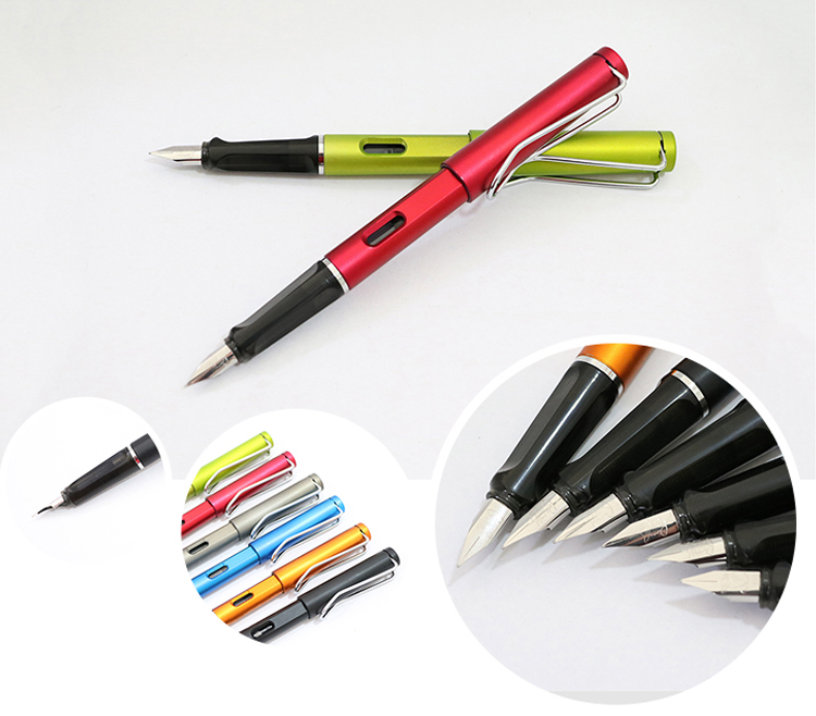 Hot Selling Product Full Color Customer Logo Printing Plastic Loose Fountain Pen With Clip