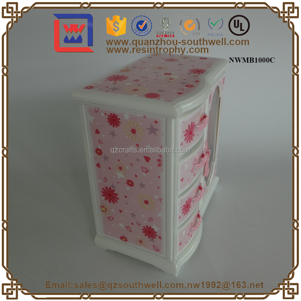 Products For 2015/Box Shaped Wedding Favors Music Jewelry Box With Drawer