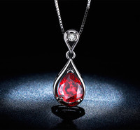 Nice Pendant Necklaces rubellite sterling silver 5