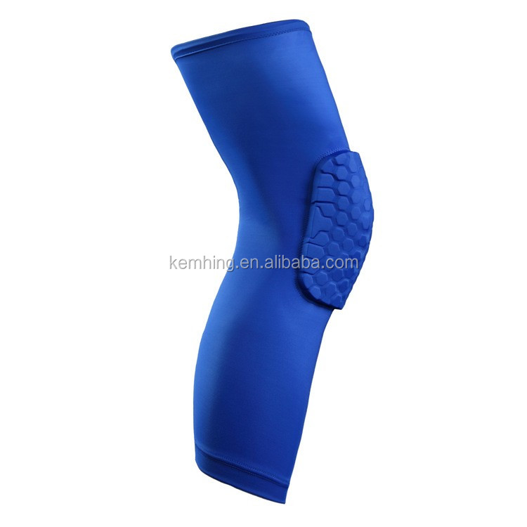 Factory price wholesale sponge honeycomb knee support brace