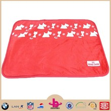 Famous brand in cooperation reasonable price animal printed super soft baby pet blanket with one side shu velveteen