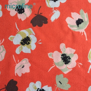 Fashion 100% polyester custom knit digital printing fabric textiles for mop