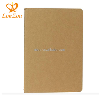 Kraftpapier leere notebook billig groß benutzerdefinierte drucken journal plain kraft notebook