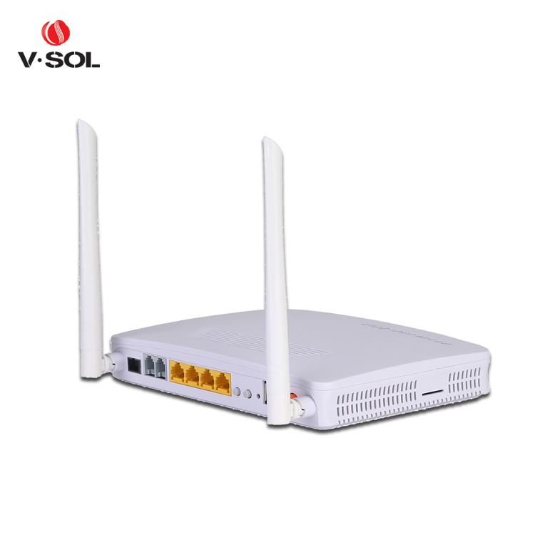 Hot sell WiFi GPON ONU 4GE 2FXS fiber modem router support NAT HG8245H