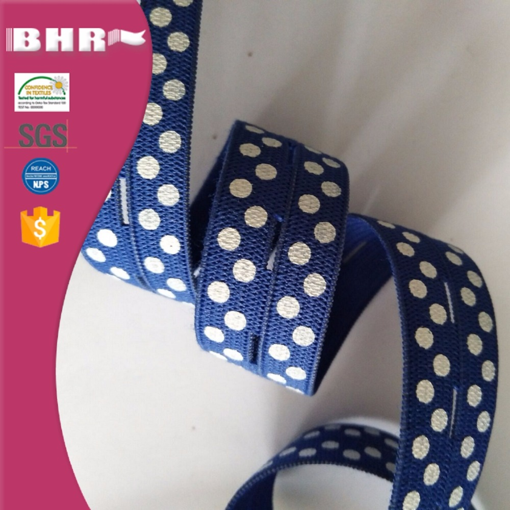 Garment accessories latex material 20mm button hole elastic band