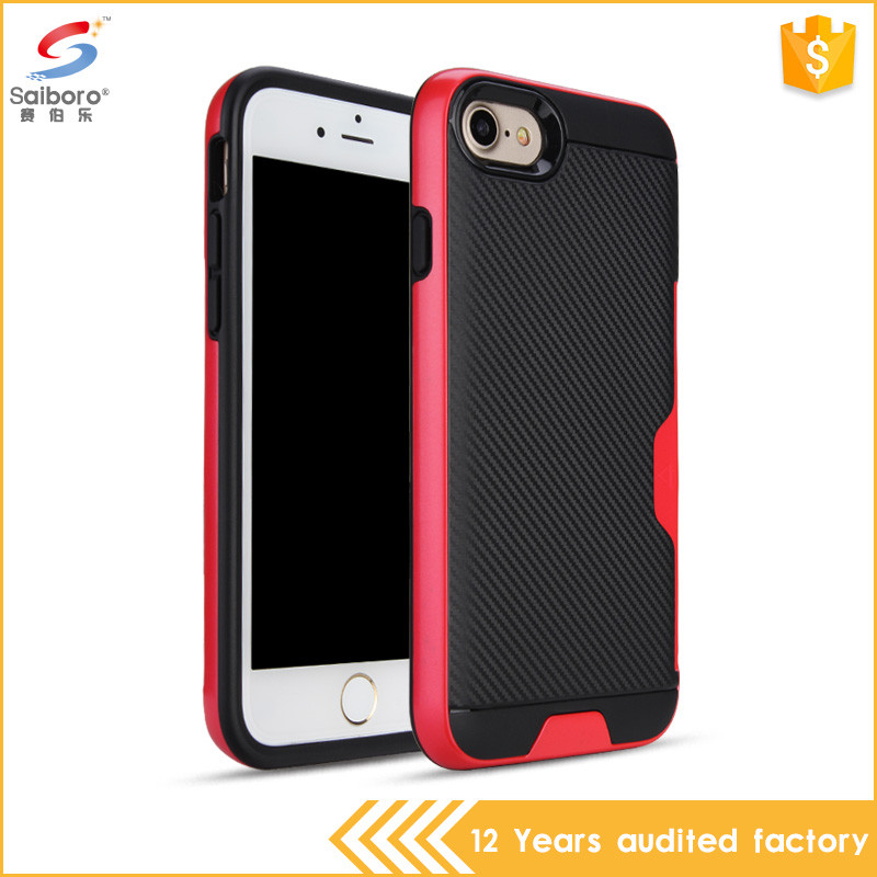 Gorgeous for iphone 6plus case credit card,for iphone 6 case black and red