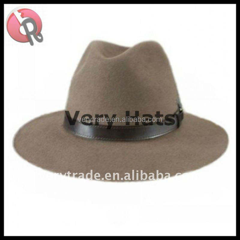 men's fashion 100% Australasian wool handmade felt fedora hat / dress hat / Street hat