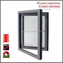 36 x 48 Casement Window With Frame Thickness 1.4MM 2.0MM Rainproof Thermal Break Top Hung French Casement Crank Style Windows