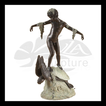 high quality bronze dolphin and turtle sculpture