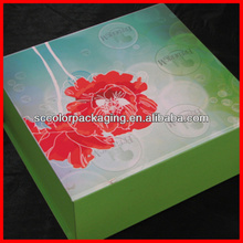 Decorative tissue paper covered gift box with magnetic lid