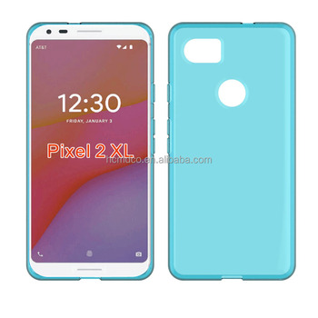 clear Transparent soft mobile phone case for Google Pixel 2 XL tpu back cover