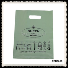 Customized Printing Logo Plastic Bag With Handle Clear Plastic Tote Bags