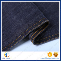 Manufacture cotton spandex chambray woven denim fabric for jeans