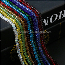 Wholesale pujing 3mm Crystal Rondelles Beads Loose Spacer Jewelry Beads For Necklace/Bracelet