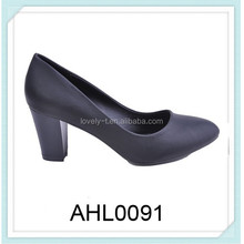 ladies PU court shoes with cone heel