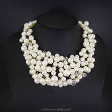 Faux mother of pearl necklace wholesale,2015 fashion women accessories jewellery channel pearl necklace A6026