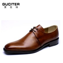 Handmade goodyear welted for man Gradient Derby sude hand made shoes Derby custom shoes men shoes 14 size tide restoring ancient