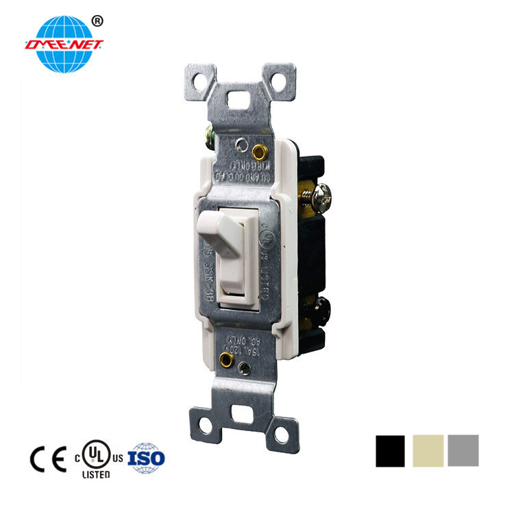 UL Approve 15A 125V 3-way Plastic Momentary Wall Toggle Switch Good Quality Plastic Toggle Switch
