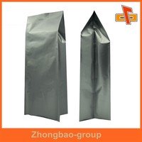 Moisture proof foil packaging bag, side gusset foil pouch for food grade packing