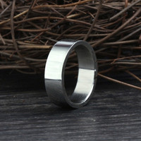 Allencoco stainless steel ring glaze men ring of fashion jewellery 2015 gay men ring
