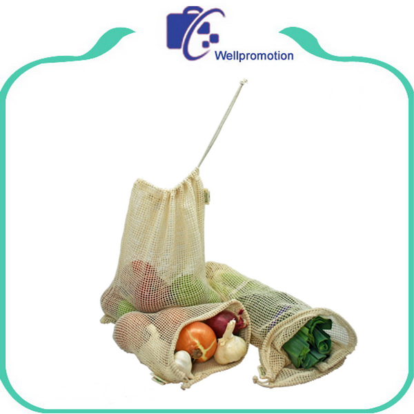 Reusable Simple Ecology Organic Cotton Mesh Produce Bag - Set of 5