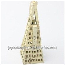 eiffel tower paper craft/design house paper craft/tissue paper flower crafts