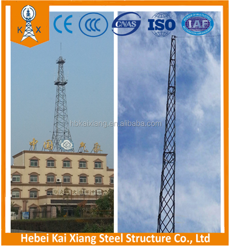 it covers an area of small angle steel tower for saving land resource