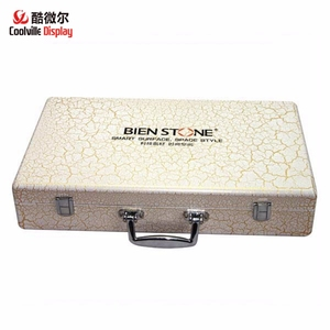 Good quality marble stone boxes granite quartz floor sample boxes