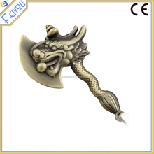 Best selling fashion factory antique brown dragon axe pendant