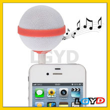 New Arrival Ball Style mini portable speakers for mobile phones for iPhone /for iPod /for iPad (Red)