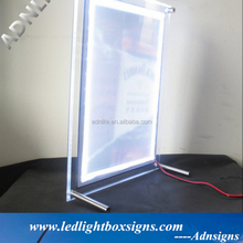 A1 A2 A3 A4 crystal led picture frame stand optical <strong>sign</strong> board