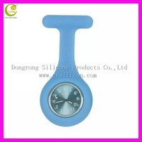 OEM printing good quality silicone pocket nurse watch easy to take