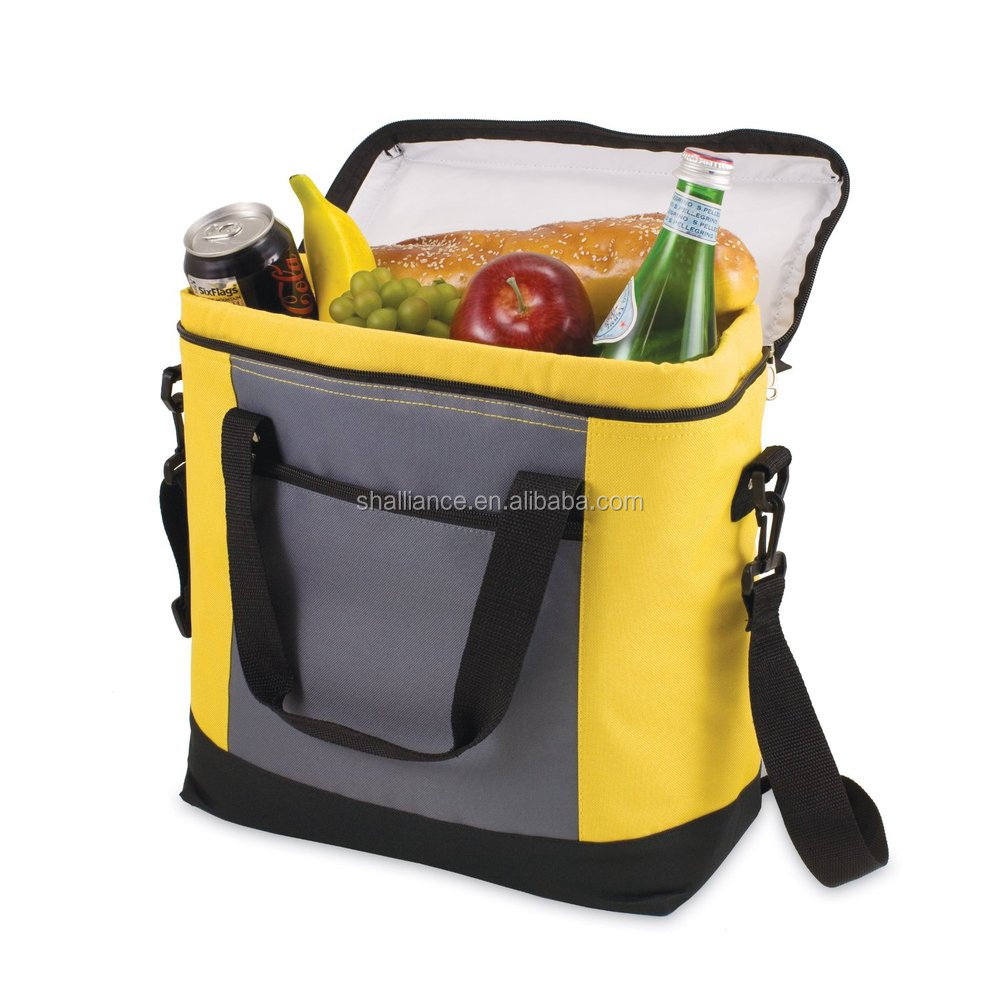 Nylon fabric insulated lunch cooler bag zero degrees inner cool for cooler and warmer food