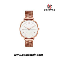 2016 new arrival stainless steel men's watch, unique design case gentmen's watch, high quality rose gold fancy watch